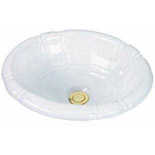 Cole + Company Designer Series Ceramic Oval Drop-In Bathroom Sink