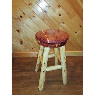 Myrtle Swivel Bar Stool Millwood Pines