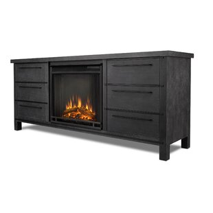 Parsons TV Stand with Fireplace