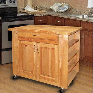 Kitchen Island with Butcher Block Top Catskill Craftsmen, Inc.