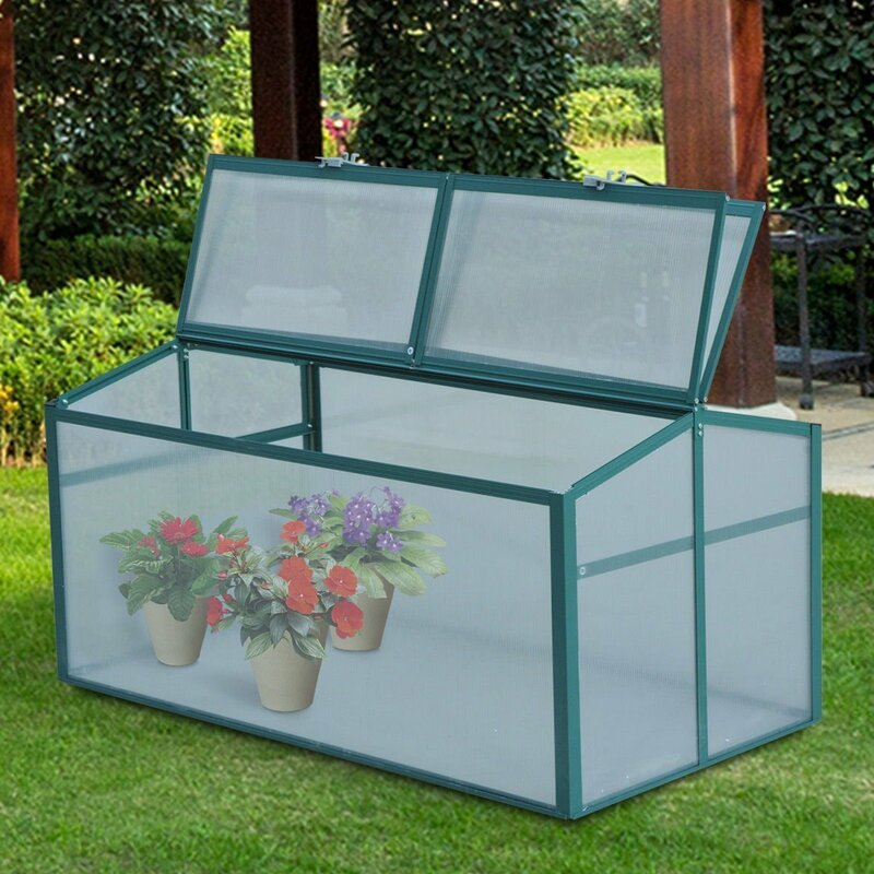 c974c5c56e Outsunny 2 Ft. W x 4 Ft. D Cold-Frame Greenhouse