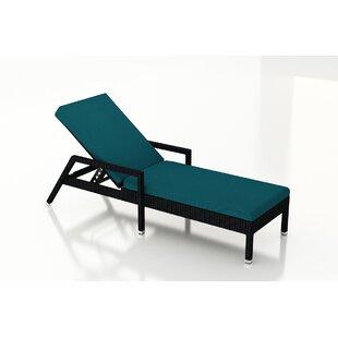 Azariah Reclining Chaise Lounge with Cushion