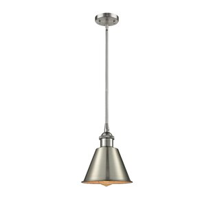 Nakayama 1-Light Bell Pendant by Beachcrest Home