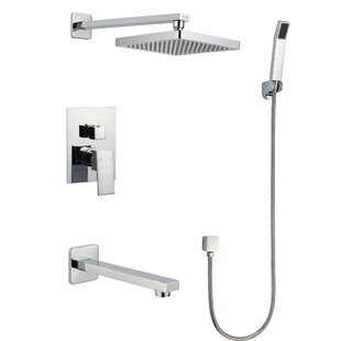 Temperature Control/Pressure-Balanced Shower Faucet with Valve, Trim, and Diverter by New Mojo