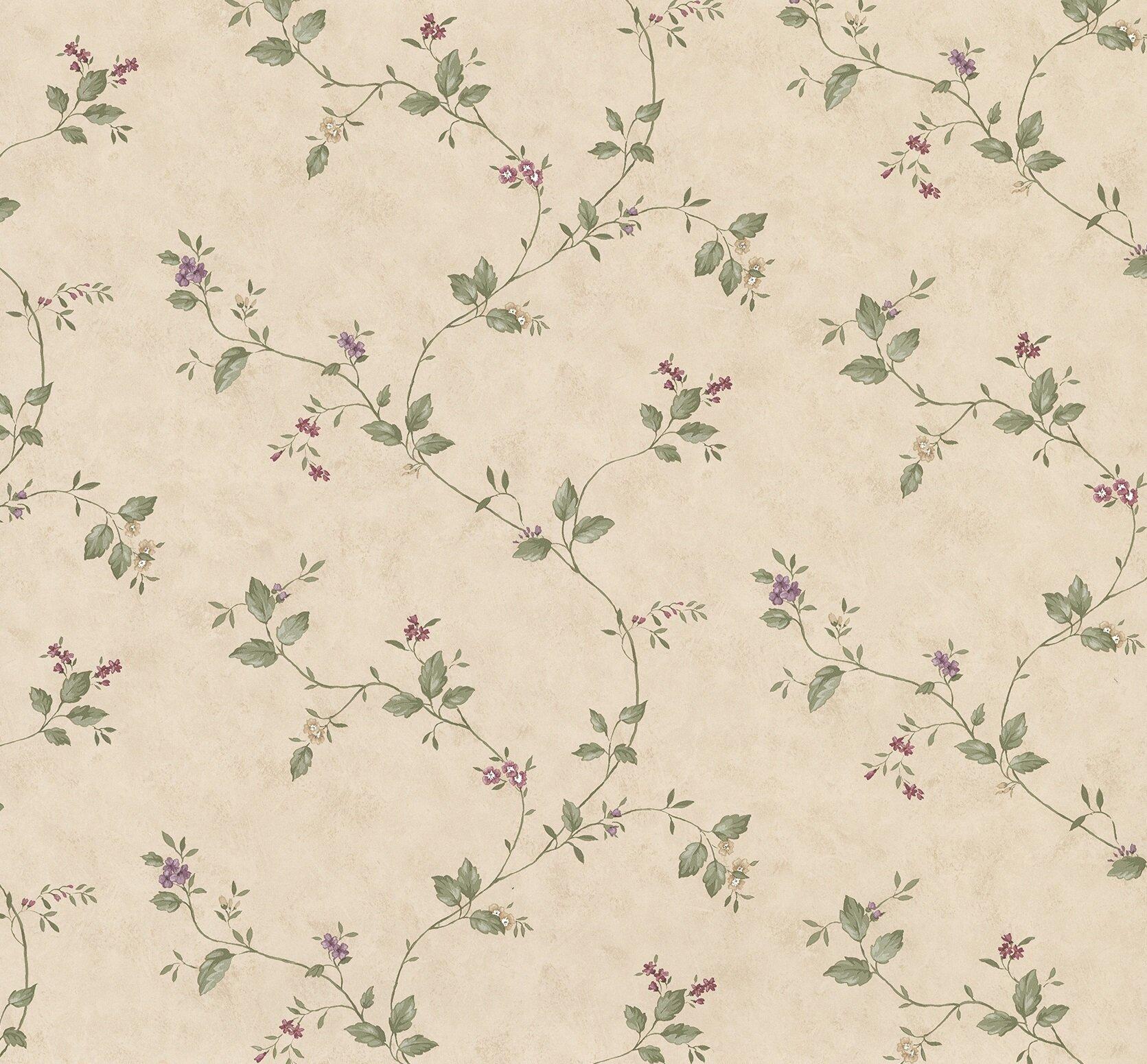 August Grove Ree Mini Floral Trail 33 L X 20 5 W Wallpaper Roll