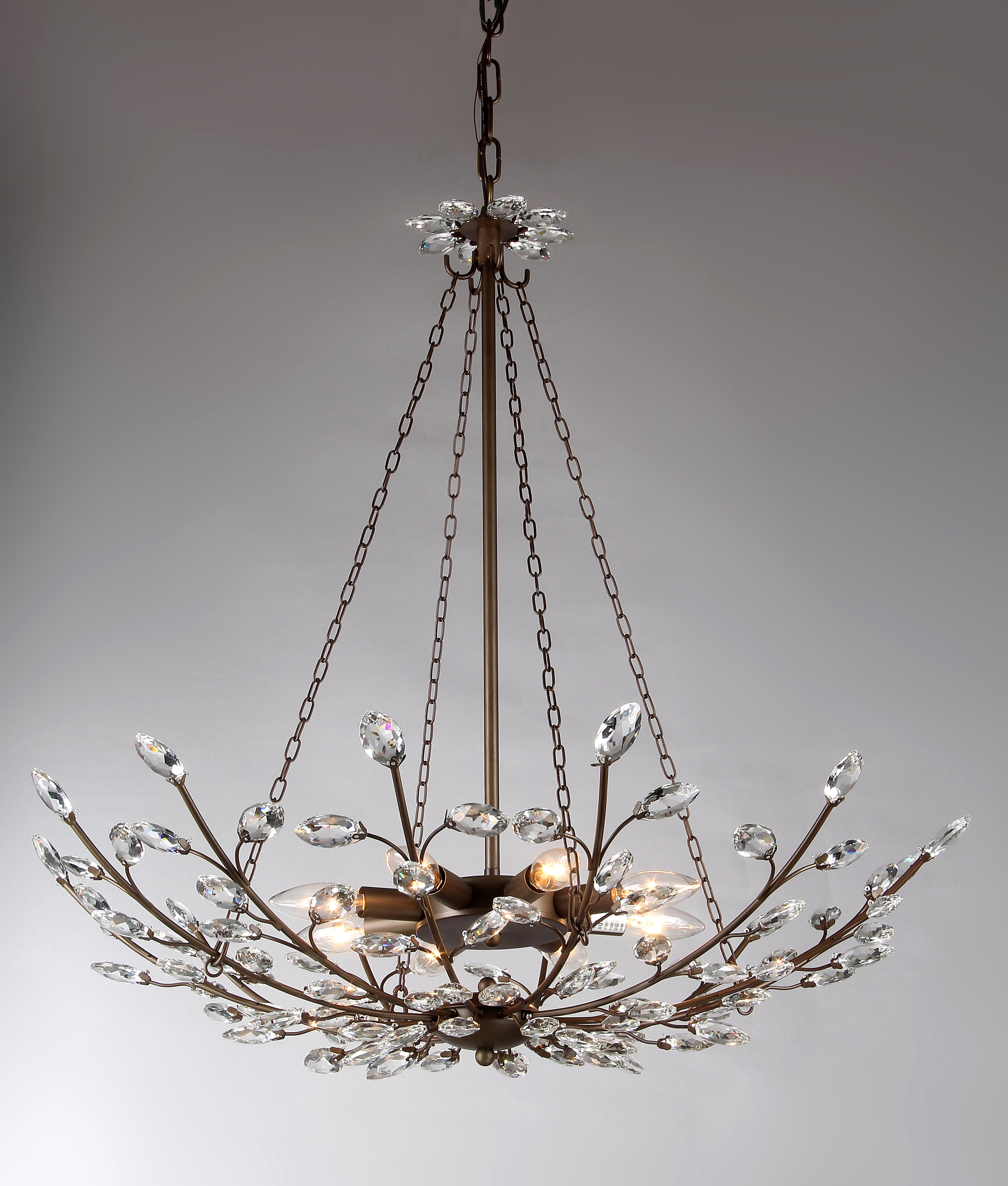 Warehouse of Tiffany Ad 8 Light Crystal Chandelier & Reviews