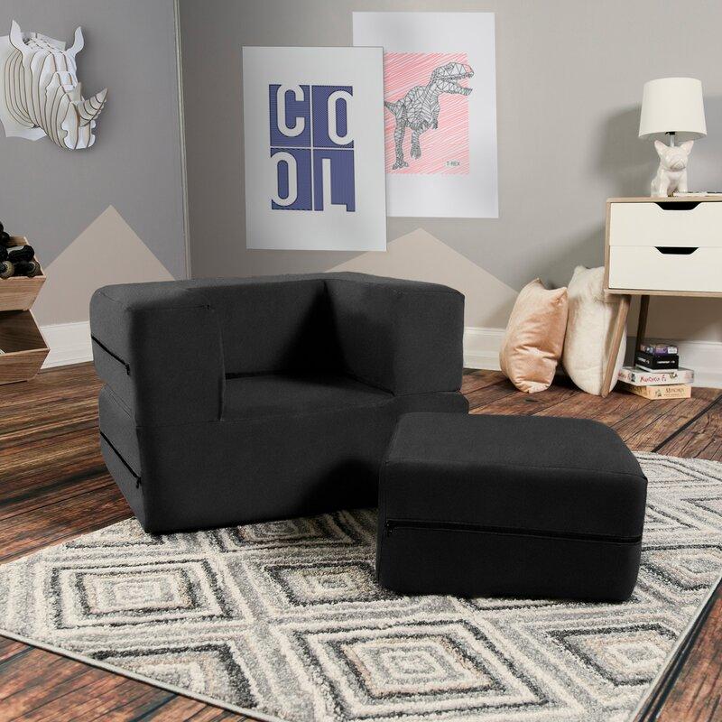Mack & Milo™ Mendonca Big Kids Chair Sleeper and Ottoman & Reviews