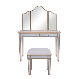 Rosdorf Park Seth Table Vanity Set