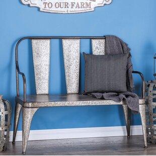 Farmhouse 40 X 45 Inch Grey Iron Bench