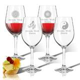 Personalized Solstice 4-Piece 12 oz. Plastic All Purpose Wine Glass Set by Carved Solutions
