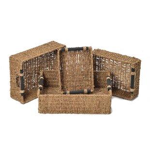 Silsbee Seagrass 4 Piece Basket Set By Brambly Cottage