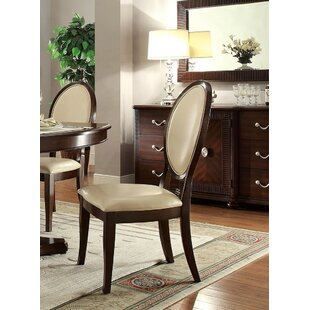 Alcott Hill Nieto PU Side Chair (Set of 2)