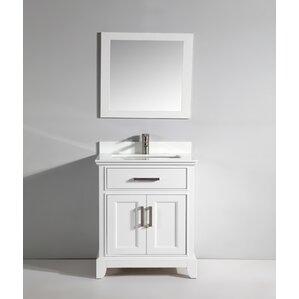phoenix stone 30 single bathroom vanity with mirror
