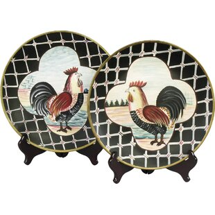2 Piece Rooster Plate Set  sc 1 st  Wayfair : decorative rooster plates - pezcame.com