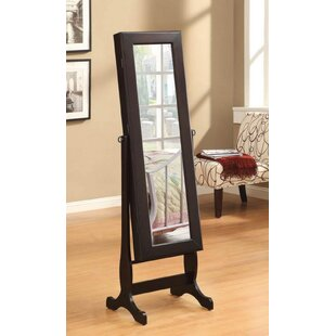 Dawna Free Standing Jewelry Armoire with Mirror