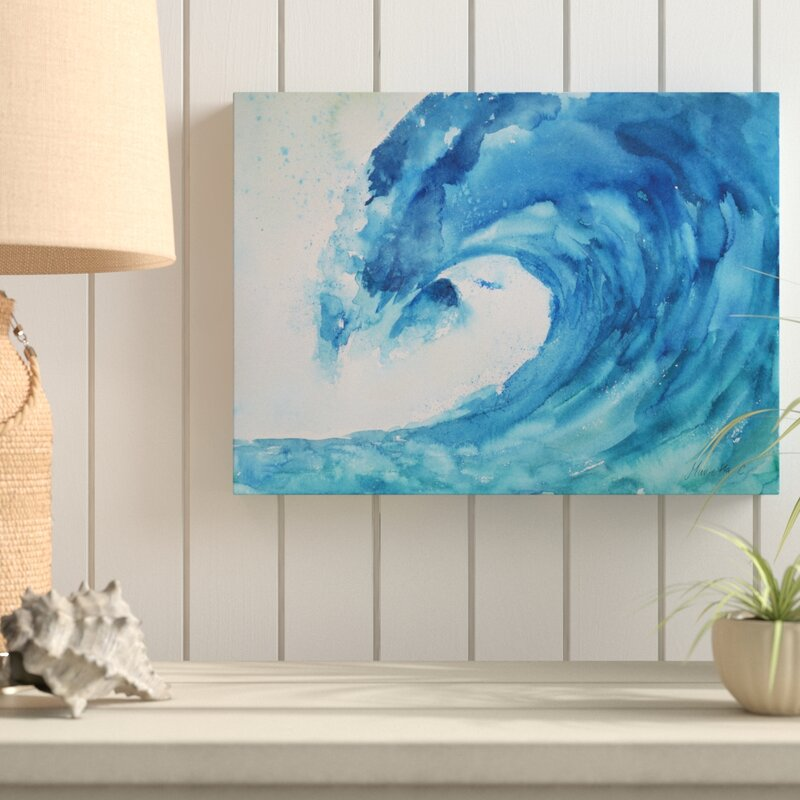 Highland Dunes 'Wave Nautical 1' Acrylic Painting Print On Wrapped