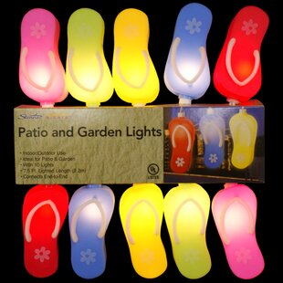 Penn Distributing 10-Light Flip-Flop Sandal String Lights (Set of 10)