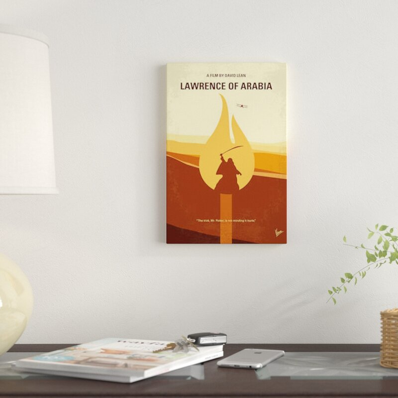 Minimal Movie 'Lawrence of Arabia' Graphic Art Print on Canvas