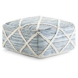 Ine 20.1 Wide Square Geometric Pouf Ottoman by Highland Dunes