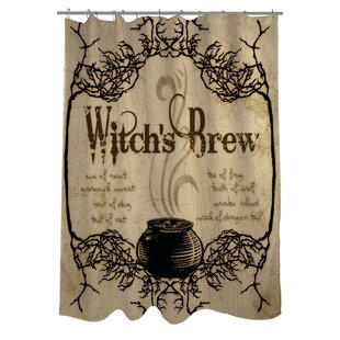 Great choice Witch's Brew Shower Curtain ByThe Holiday Aisle