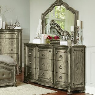 Liola 9 Drawer Standard Dresser With Mirror by Astoria Grand Top Reviews