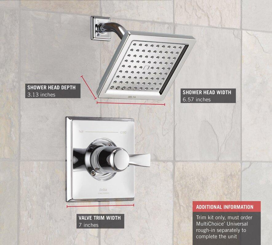 Delta Dryden™ Diverter Shower Faucet with Monitor & Reviews | Wayfair
