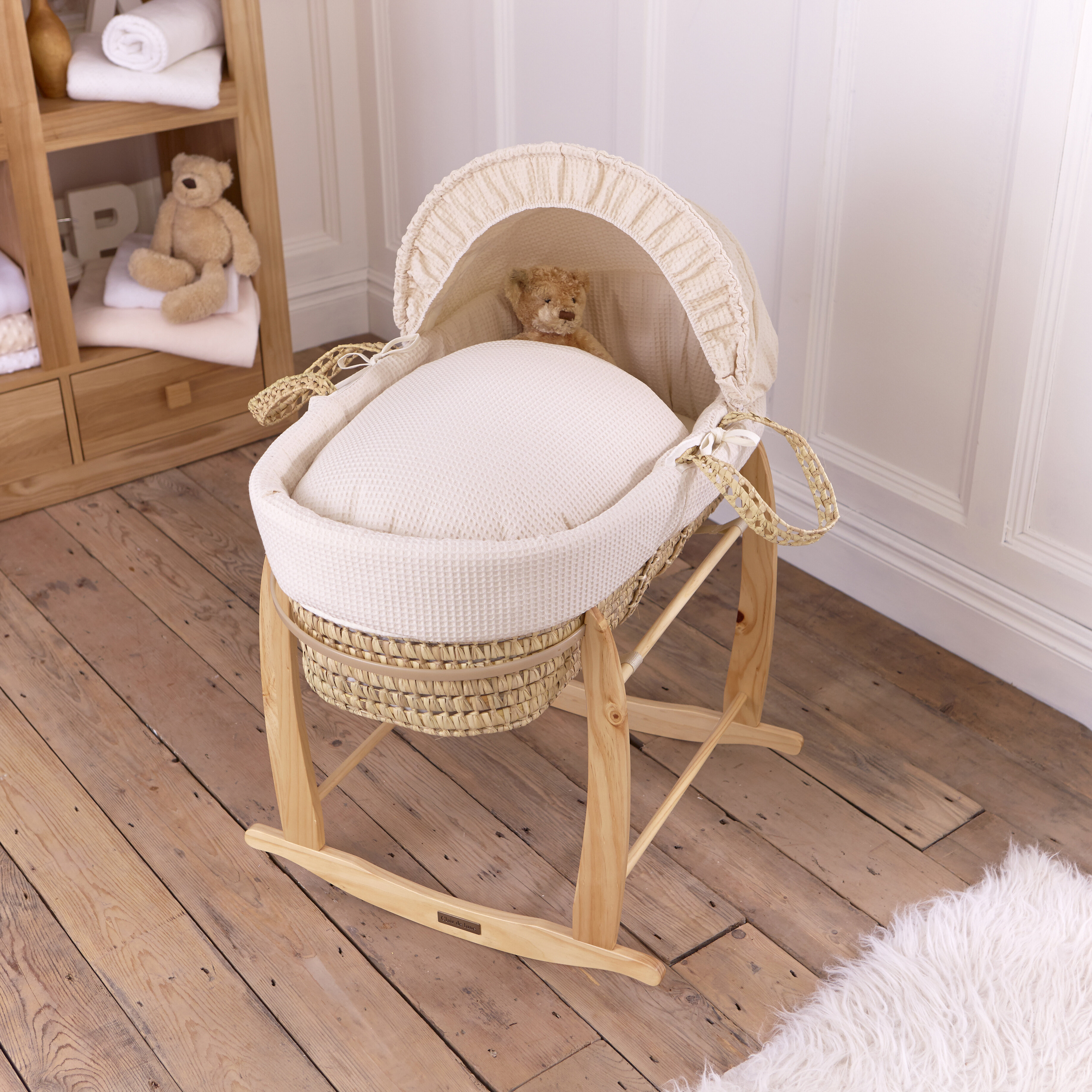 Clair de Lune Standard Rocking Moses Basket Stand