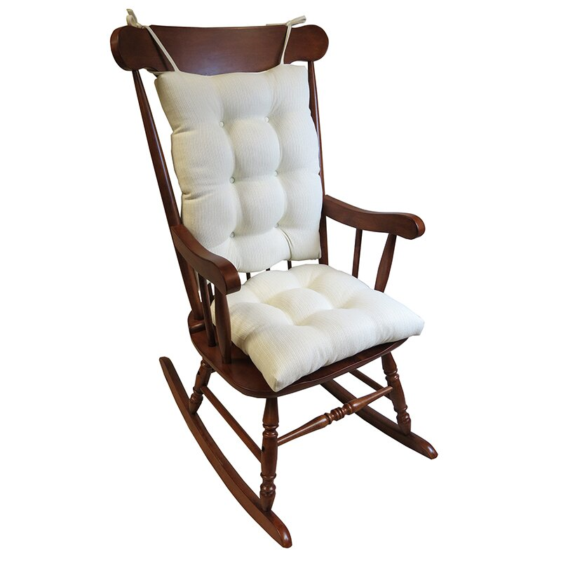 2 Piece Rocking Chair Cushion