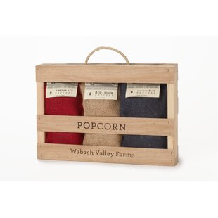 Whirley-Pop Mini Burlap Popcorn Box Set