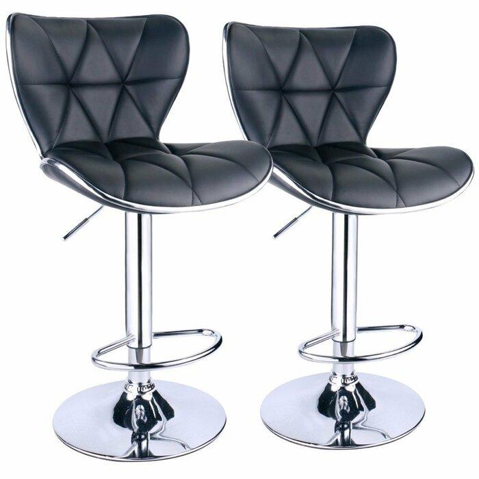 Surprising Ferri Back Adjustable Height Swivel Bar Stool Lamtechconsult Wood Chair Design Ideas Lamtechconsultcom