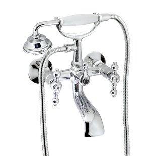 Charlton Home Isai Tub and Shower Mixer with Lever Handle