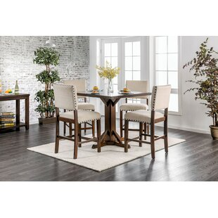 Hong 5 Piece Counter Height Breakfast Nook Dining Set