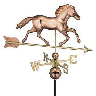 Broomsedge Running Horse Weathervane Image