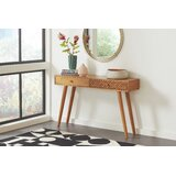 2-Drawer Console Table Natural Brown by Union Rustic