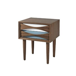 Bradburn Wood 2 Drawer Nightstand