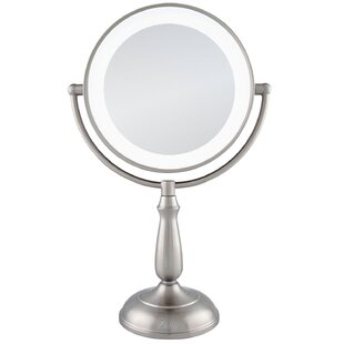 Aldrick Dimmable Touch Ultra Bright Dual-Sided LED Lighted Vanity Mirror ByDarby Home Co