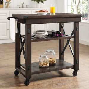 Gladstone Kitchen Island with Wooden Top