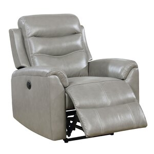 Veedersburg Leather Power Recliner