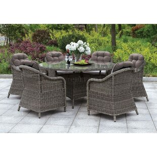 Capuano 7 Piece Dining Set with Cushions by Darby Home Co