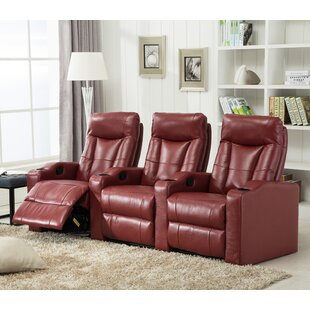 Living In Style Priscilla Gel Reclining Leather Home Theater Sofa