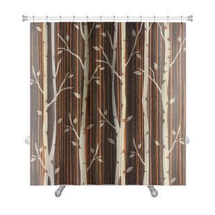 Nature Decorative Trees Ebony Wood Premium Shower Curtain