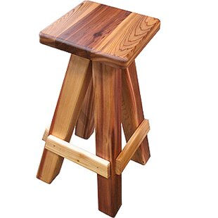 Western Cedar Swivel Bar Stool