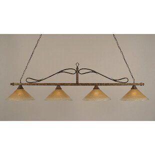 Reba 4-Light Billiard Light by Fleur De Lis Living