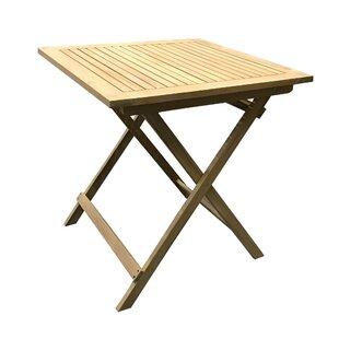 Hackett Folding Teak Bistro Table By Sol 72 Outdoor