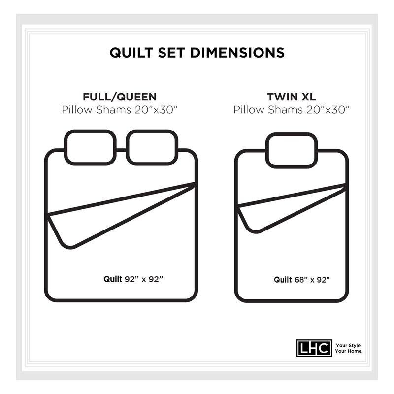 Highland Dunes Cureton Reversible Quilt Set Reviews Wayfair