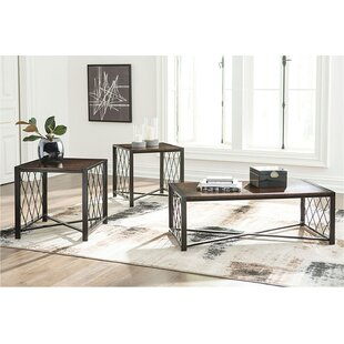 Kirtin 3 Piece Coffee Table Set