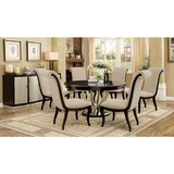 Moreno Solid Wood Dining Set by Winston Porter