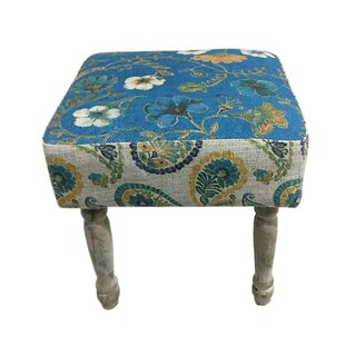 Heyman Floral Print Stool By Lily Manor