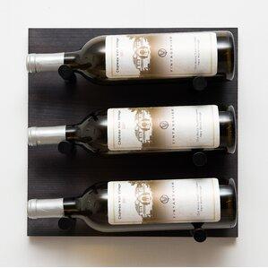 3 Bottle Wall Mounted Wine..
