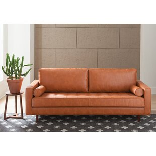 Great Firm Leather Sofa | Wayfair